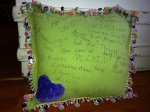 Autograph pillow 1